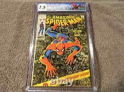 1971 MARVEL Comics AMAZING SPIDER-MAN #100 Anniversary Issue STAN LEE CGC 7.5