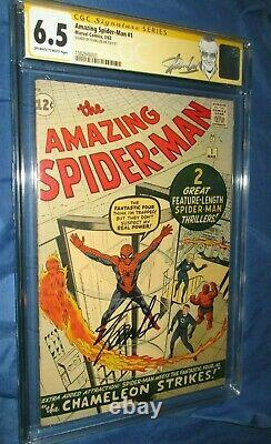 AMAZING SPIDERMAN #1 CGC 6.5 SS Signed/Autograph by Stan Lee 1963