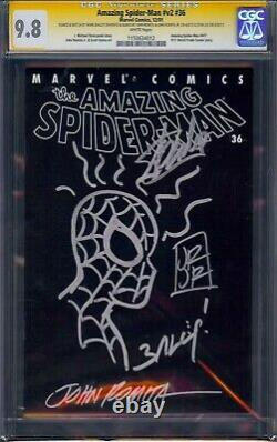 AMAZING SPIDERMAN #36 / #477 CGC 9.8 Signed 4X STAN LEE JOHN ROMITA /JR, BAGLEY