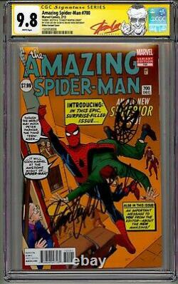 AMAZING SPIDERMAN #700 DITKO CGC 9.8 SS STAN LEE 94th BDAY SIGNED HEAD SKETCH