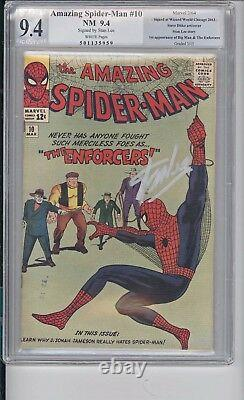 AMAZING SPIDER-MAN #10 Not CGC, PGX 9.4 NM SIGNATURE SER. SIGNED BY STAN LEE