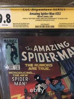 AMAZING SPIDER-MAN #252 CGC 9.8 Ss Stan Lee Roger Stern First Black Suit Venom