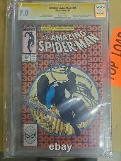 AMAZING SPIDER-MAN #300 CGC SS 7.0 SIGNED BY STAN LEE 1988 comic book 1st venom