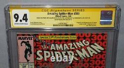 AMAZING SPIDER-MAN #300 Signed x4 Stan Lee, McFarlane, 1st Venom CGC 9.4 NM 1988