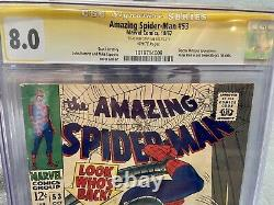 AMAZING SPIDER-MAN #53 CGC 8.0 Signed Stan Lee White Pages Perfect Signature