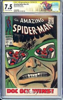 AMAZING SPIDER-MAN 55 CGC 7.5 SS Signed Stan Lee 1967 Doctor Octopus Classic