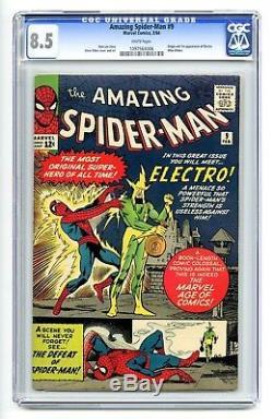 AMAZING SPIDER-MAN #9 CGC 8.5 1st ELECTRO STAN LEE & STEVE DITKO KEY L@@K