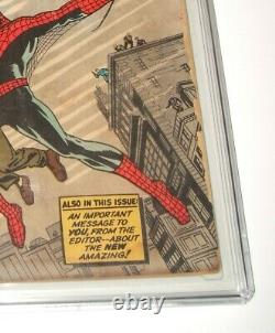 Amazing Fantasy#15 Cgc 1.0 First Appearance Of Spider-man, 8/1962, Stan Lee