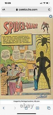 Amazing Fantasy #15 Cgc 3.5 Signed Stan Lee Af15 1st Appearance Spider-man