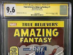 Amazing Fantasy True Believers 15 CGC 9.6 SS Signed Stan Lee Spider-Man