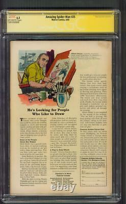 Amazing SPIDER MAN 25 CGC SS 6.5 Stan Lee Sign 1st Mary Jane Steve Ditko 1965