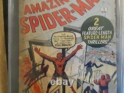Amazing SpiderMan 1 CGC 1.0 SS Signed by Stan Lee 1963. Grail key. Nuff said