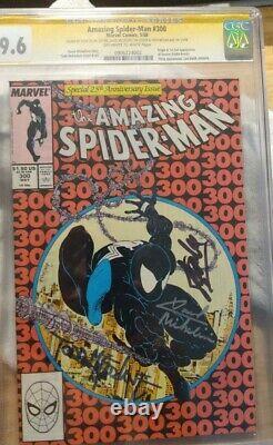 Amazing SpiderMan 300 SS CGC 9.6, Stan Lee, Todd McFarlane, David Michelinie