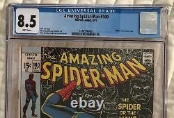Amazing Spider-Man #100 CGC 8.5 White Pages Stan Lee Story, John Romita Cover