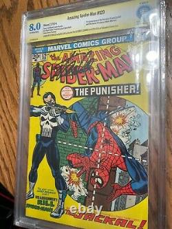 Amazing Spider-Man 129 CGC 8.0 SS Stan Lee & Romita White Pages