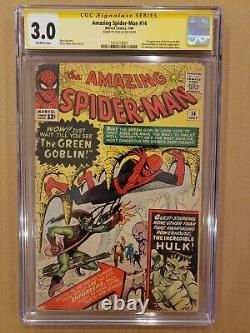 Amazing Spider-Man #14 1st Appearance of Green Goblin CGC 3.0 SS Stan Lee