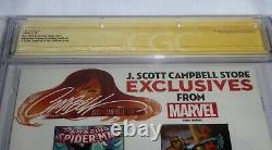 Amazing Spider-Man #15 Dual Signature Autograph STAN LEE J. SCOTT CAMPBELL 9.8