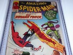 Amazing Spider-Man #18 CGC SS Signature Autograph STAN LEE 1st Ned Leeds Sandman