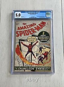 Amazing Spider-Man #1 CGC 5.0 Silver Age 1963 Key Off White New Label Stan Ditko