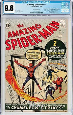 Amazing Spider-Man #1 CGC 9.2 Restored SS 1963 Stan Lee Signature Comic Book