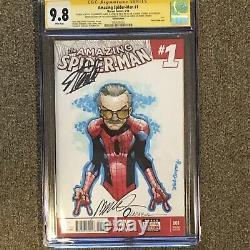 Amazing Spider-Man 1 Cgc Ss 9.8 SS HUMBERTO Ramos Sketch Signed Stan Lee RARE