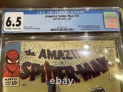Amazing Spider-Man 20 CGC 6.5 ORIGIN & 1st SCORPION Steve Ditko Stan Lee