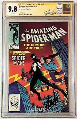 Amazing Spider-Man #252 CGC 9.8 WP signed Stan Lee