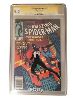 Amazing Spider-Man 252 CGC SS 9.2 signed Stan Lee Newsstand First Black Costume