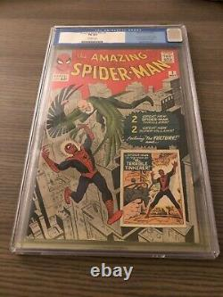 Amazing Spider-Man #2 CGC FN 6.0 Off White 1st Vulture Stan Lee Old Label