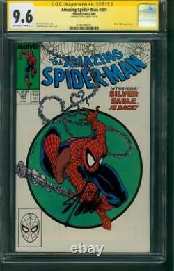 Amazing Spider Man 301 CGC SS 9.6 Stan Lee Signed 1988 Todd McFarlane Cover