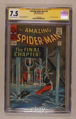 Amazing Spider-Man #33 CGC 7.5 SS Stan Lee 1513035009
