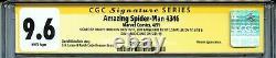 Amazing Spider-Man 346 CGC 9.6 SS X4 Stan Lee Bagley Emberlin Michelinie Venom