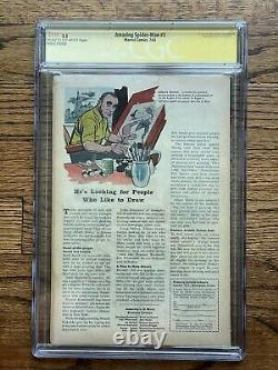Amazing Spider-Man #3 CGC 3.5 Signed by Stan Lee 1st Doctor Octopus No Way Home