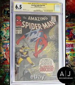 Amazing Spider-Man #46 CGC 6.5 (Marvel) Signed by Stan Lee and John Romita