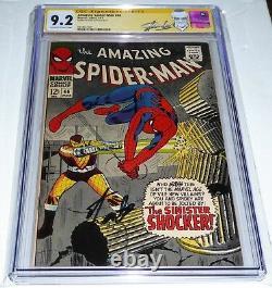 Amazing Spider-Man #46 CGC Signature Autograph STAN LEE Origin 1st Shocker App