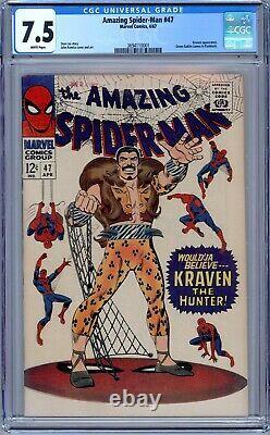 Amazing Spider-Man #47 CGC 7.5 1967, Marvel Stan Lee Story. Kraven the Hunter