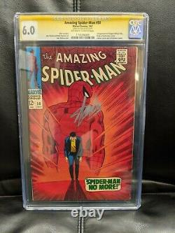 Amazing Spider-Man #50 CGC SS 6.0 signed Stan Lee. 1st App Kingpin (1967)