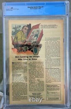 Amazing Spider-Man #7 (1963) CGC 6.5 - 2nd Vulture app Stan Lee & Steve Ditko