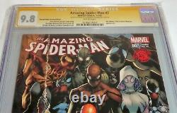 Amazing Spider-Man #7 CGC SS 9.8 Dual Signature Autograph STAN LEE & RAMOS Silk