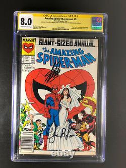 Amazing Spider-Man Annual 21 CGC 8.0 signed Stan & Joanie Lee on anniversary