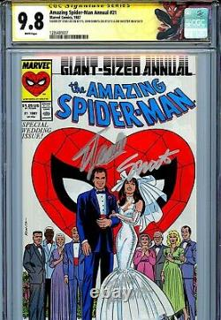 Amazing Spider-Man Annual 21 CGC 9.8 SS X3 Stan Lee Romita Shooter Mary Jane WP