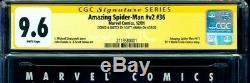 Amazing Spider-Man Vol 2 #36 CGC 9.6 SS Hanna Amazing Fantasy 15 Stan Lee Sketch