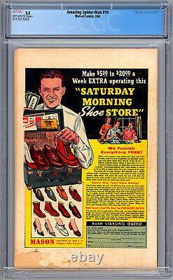 Amazing Spider-man 10 Cgc 2.5 Stan Lee Steve Ditko Jack Kirby 1st Enforcers 1964