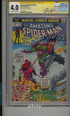 Amazing Spider-man #122 Cgc 4.0 Ss Signed Stan Lee Death Of Green Goblin