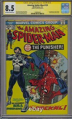 Amazing Spider-man #129 Cgc 8.5 Ss Stan Lee 1st Punisher Jackal