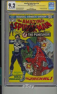 Amazing Spider-man #129 Cgc 9.2 Ss Signed 4 Times Stan Lee Wein Conway Thomas