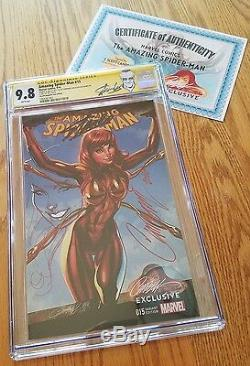 Amazing Spider-man 15 Iron Jane Cgc 9.8 Ss J Scott Campbell Remark Stan Lee Rare