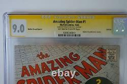 Amazing Spider-man #1 Golden Record Reprint CGC 9.0 Stan Lee signed