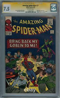 Amazing Spider-man #27 1965 Cgc 7.5 Signature Series Signed Stan Lee Marvel
