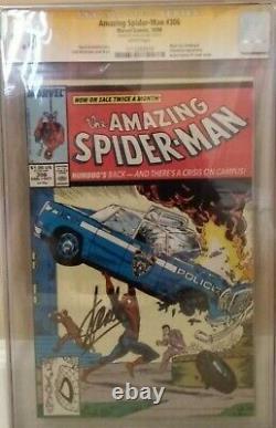 Amazing Spider-man #306 Cgc 9.8 Ss Stan Lee Mcfarlane Michelinie Black Cat